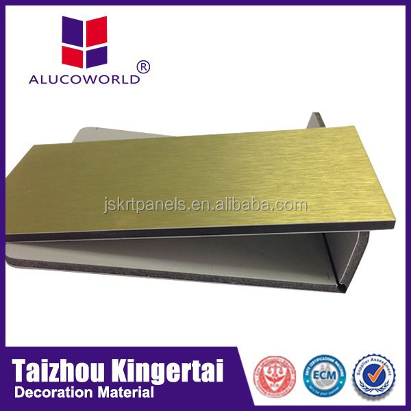Alucoworld colorful silver brush aluminium composite panel 3d wallpaper acp panel