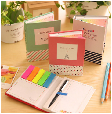Small sticky notes with a pen , customized pagemarker