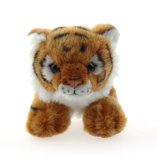 orange white black big eyes cute warm baby doll cuddly plush stuffed tiger animal toys with big claw
