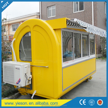 excellent structure food gummy cart trailer fast food cart sea food van with three sliding windows