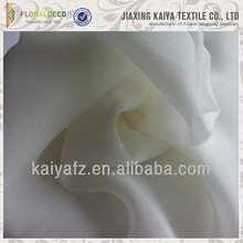 Solid white colored cheap pleated chiffon fabric
