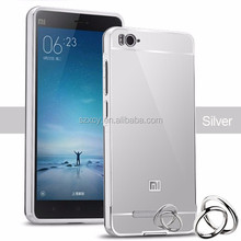 bulk buy from china Aluminum metal bumper mirror back cover case for xiaomi mi4c