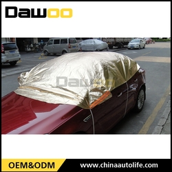 Golden aluminum foil cover car half cover