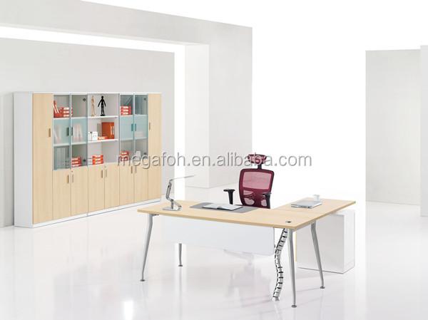 shape office table design melamine executive desk office furniture
