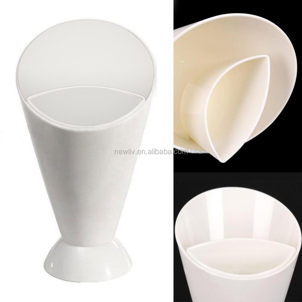 Kitchen Plastic Snack Cone French Fries Dip holder Cup for Fries Chips Finger Food Sauce Vegetable Storage