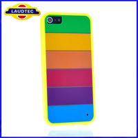 New Products Coloful Rainbow Hard Case For Apple Iphone 5 Mobile Phone Cover