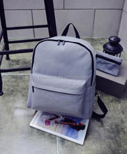 canvas backpack plain color day backpack