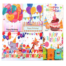 Old Street Home DIY Diamond Painting Birthday <strong>Cards</strong> Greeting <strong>card</strong> paper cartoon Handmade Happy Birthday Postcard diamond Gift