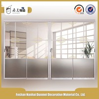 New products on china market aluminum glass sliding door for bathroom