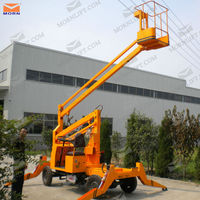 4- wheel articulated hydraulic pipe lift