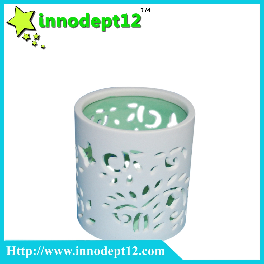 Home decoration cup shape ceramic candle holder
