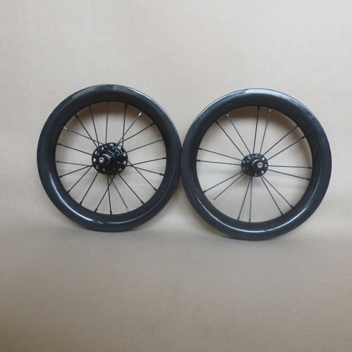 735g 14 inch 255 carbon bmx wheels 30 deep 30mm wide clincher