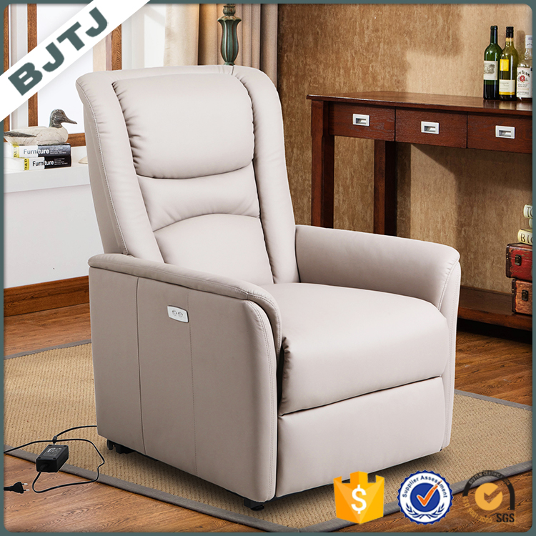 BJTJ white recliner electrical and lift design high price quality ration design leather sofa 70297