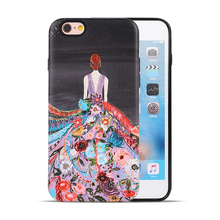 New Phone Case 3D Art Oil Paint Smooth TPU Case For iPhone 7