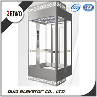 High performance hydraulic pressure sightseeing elevator with machine