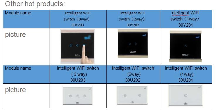 1 Gang app remote control intelligent wifi switch with tempered glass