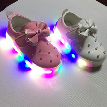 2016 Children Safey LED ligh up PU Upper shoes Ligting Shoes with Cheap Price