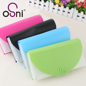 Customized student stationery PVC file pocket holder plastic file case
