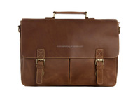 Wholesale Vintage Lawyer Executive Briefcase Genuine Leather Laptop Bag