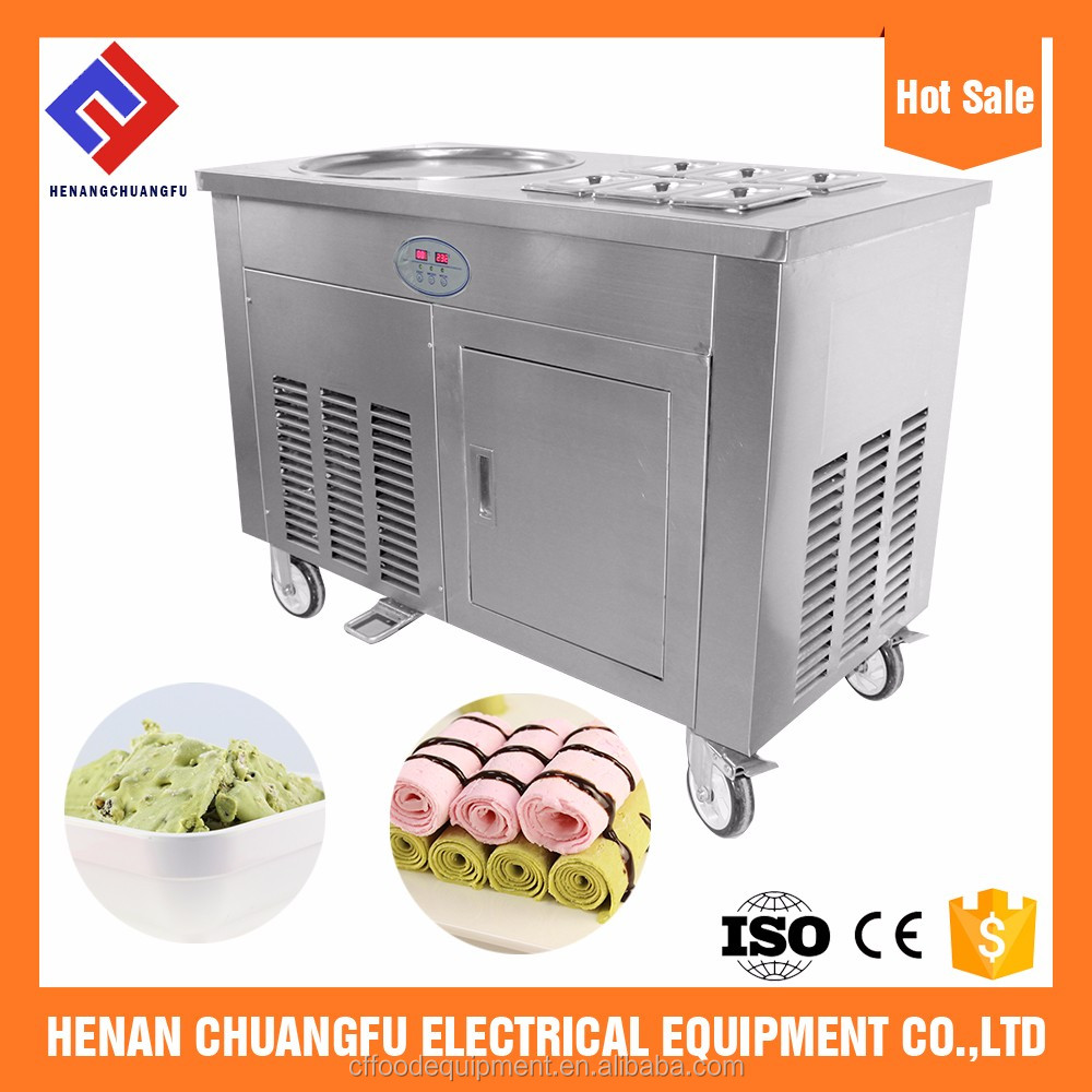 Customized Pan ice cream roll machine henan wenxiang