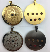 2017 Scalar Quantum Pendant Stainless steel Bio energy pendant with 7pcs health care stones