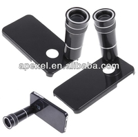 10X plastic telephoto lens for Iphone 4/Iphone 5 with tripod+phone case