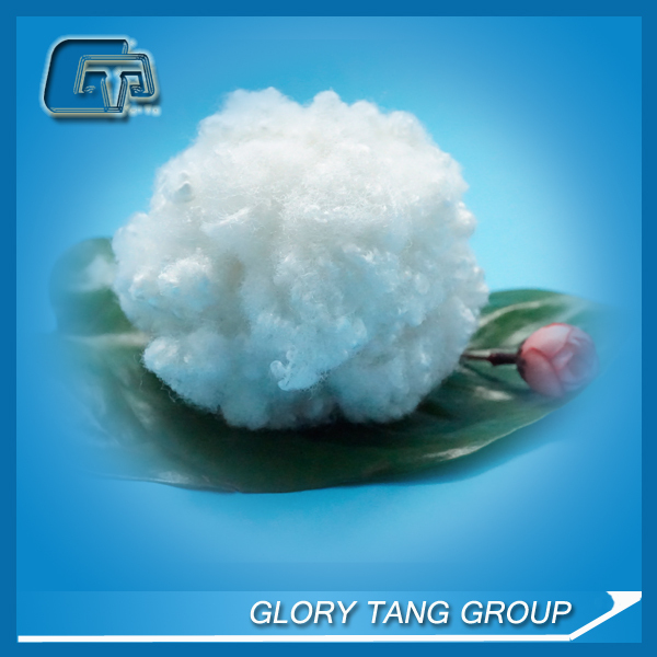 hcs hollowfiber or polyester siliconized conjugate 15D for stuffing