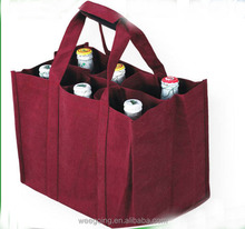 WG110 Cheap pp non woven wine bottle bags for promotion