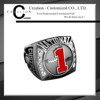 National Champion Baseball Ring Baseball Custom Ring 1st Place Insert Diamond Ring