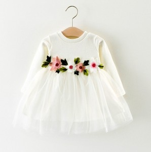 3 Years Old Baby Girl Stylish Wedding Party Dress Children Net Frock Design For Kids