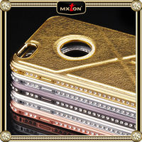 New design bling crystal fashion case, luxury case with stand, for iphone 6 case metal