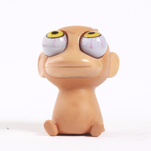 custom make anti-stress vinyl toy OEM manufacturers/make your own personalised design soft vinyl monkey convex eyes toy