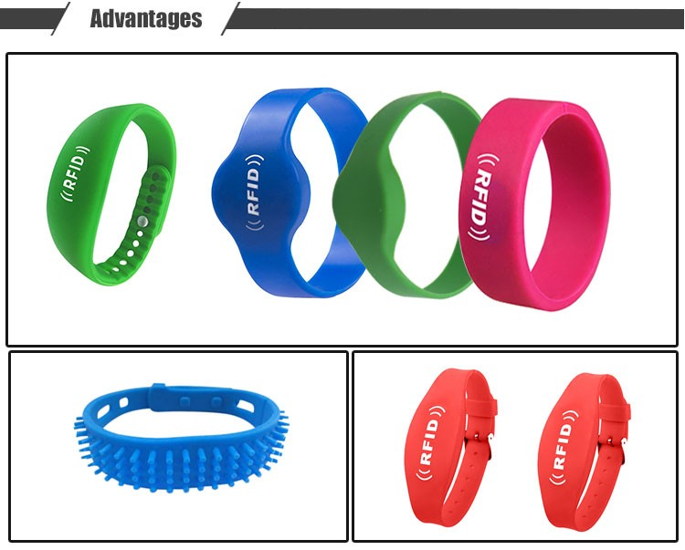 Non-transferable Embossed Sport Rfid Wristband