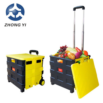 2018 foldable shopping cart with smooth handle for different markets