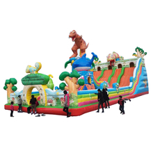 Brand new dinosaur inflatable bouncer jumping castle slide for sale