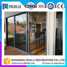 Exterior double glass aluminium sliding door with german brand handle