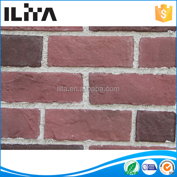 China Red Brick Interior Wall Decorative Paneling Culture Stone (YLD-18037)