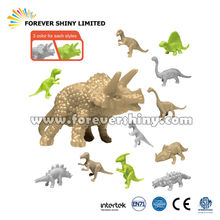 Novelty Children jouets Capsules Funny Toys Animal Figurine Stretchy Soft Plastic TPR Stone Age Dinosaurs for Vending Machines