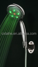 LED filtered shower head with temperature digital display