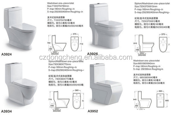 Bathrooom one piece colored toilet bowl A3960R