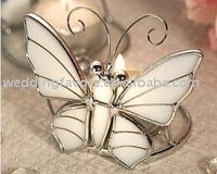 Stained Glass Butterfly Candle Holder