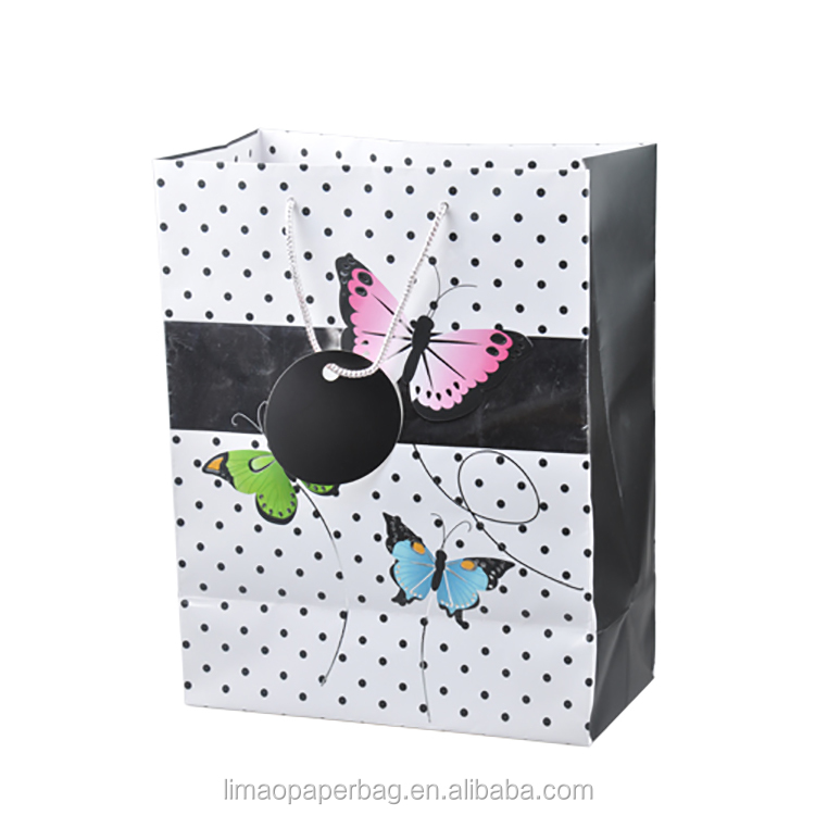 Fancy Paper Gift Bag with custom made logo print