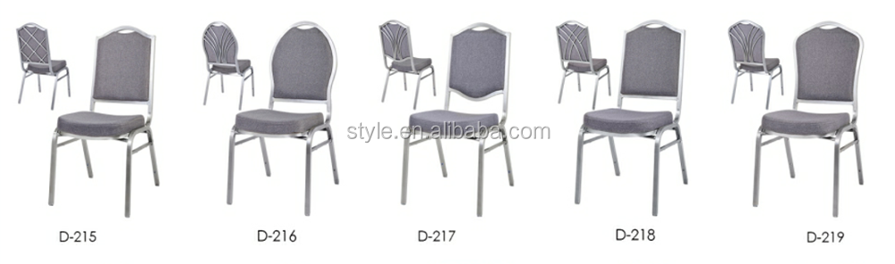 D-216 drawbench hotel aluminium banquet chair used in living room, resteraunt, wedding party for sale in alibaba.com