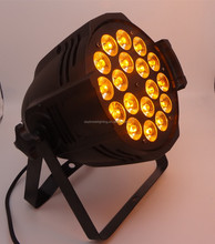 led stage light 18 * 18w RGBWA uv 6in1 led par light dj led par64 can lighting