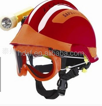 2016 new product international standard rescue helmet for fire fighting with flame retardant