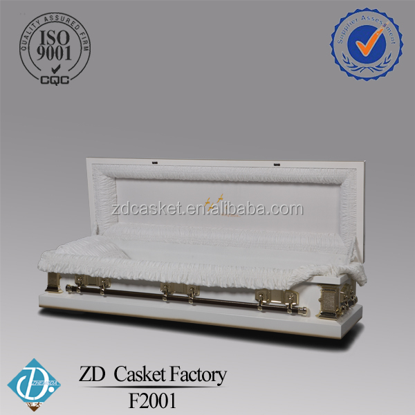 China made high quality metal coffins and caskets F2001
