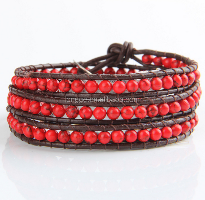 100% Natural red stone high quality gemstone beads bracelets