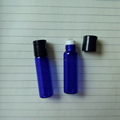5ML 15X50mm BLUE Roll On Bottle With Rollers and Plastic cap