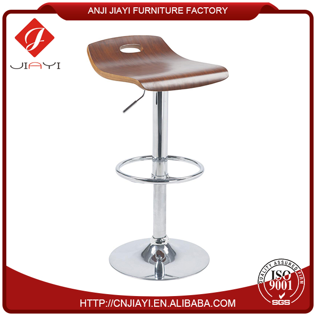 swivel armless barstool without back support, stainless steel metal bar stool