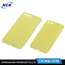 Free sample mobile phone accessories back shell transparent pp cover case for iphone 6 7 plus